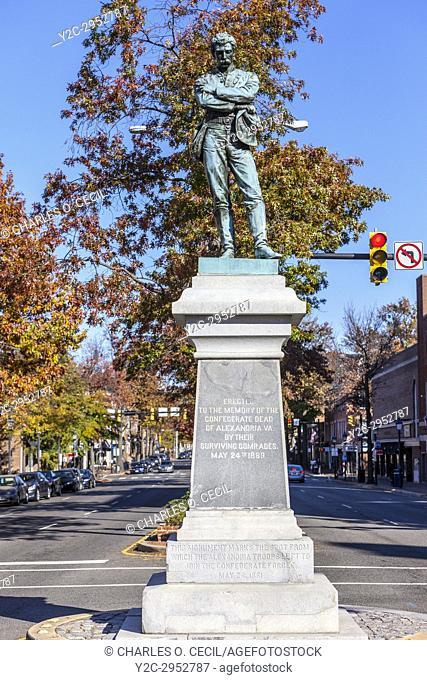 Alexandria, Virginia. Appomattox Statue to Alexandria's Civil War Heroes, erected 1889. Sculptor M. Casper Buberl