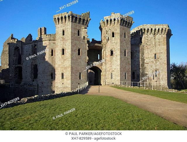 Raglan Castle, Wales, UK