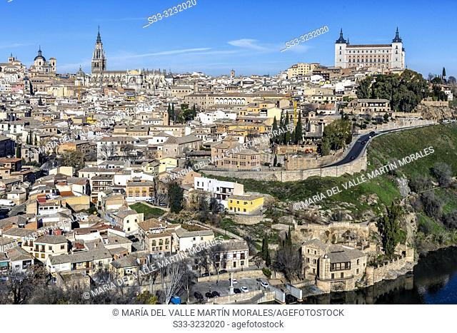 Toledo on a winter sunny day. Spain. Europe