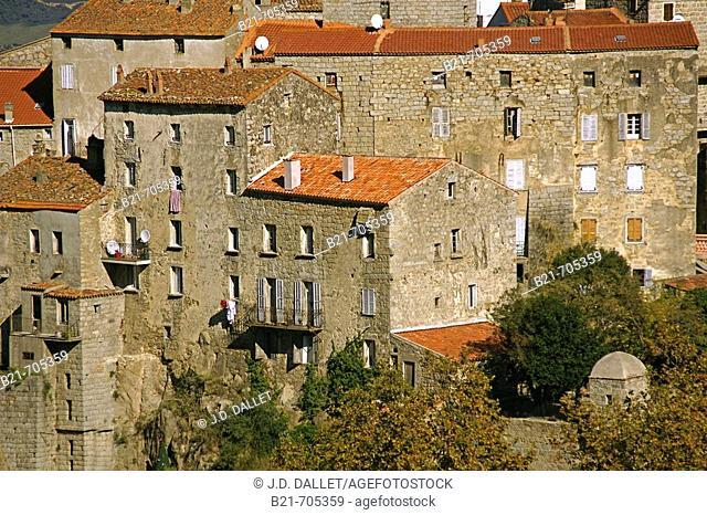 Sartène, Corsica island. France