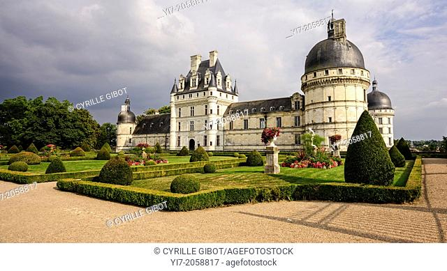Chateau of Valencay in the Loire Valley, Indre, Centre, France