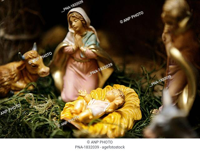 Christmas, nativity scene