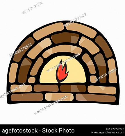 Abstract painted fireplace