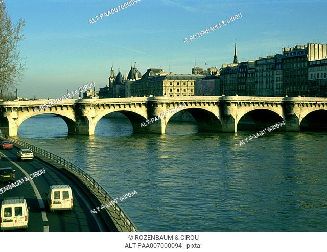 France, Paris, River Seine and Pont Neuf