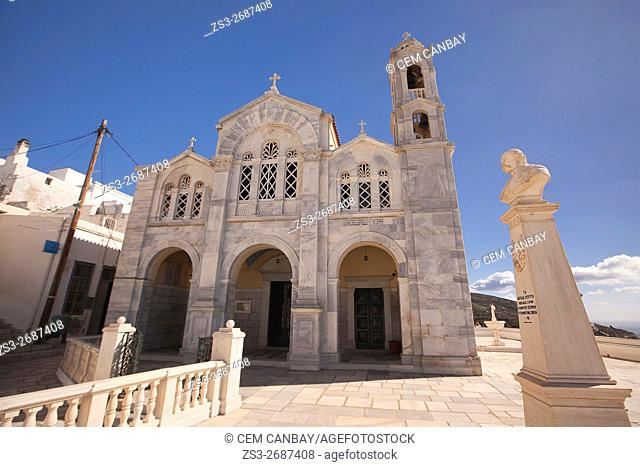 Church in Isternia village, Tinos, Cyclades Islands, Greek Islands, Greece, Europe