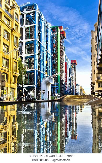 Centre Georges Pompidou, Centre Pompidou, 4th arrondissement, Paris, France, Europe