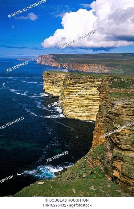 Orkney Scotland Cliffs And Pentland Firth Hoy Coastline