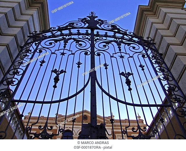 curitiba old antique big gate doors architecture