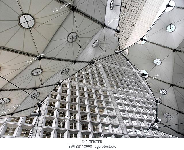pavilion roof at Grand Arche, only for editorial use, France, Paris