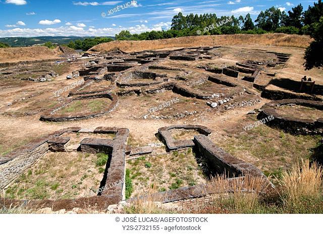 "The Celtic settlement of """"Castro de Viladonga"""" (between 2nd and 5th centuries), Castro de Rei, Lugo province, Region of Galicia, Spain, Europe"