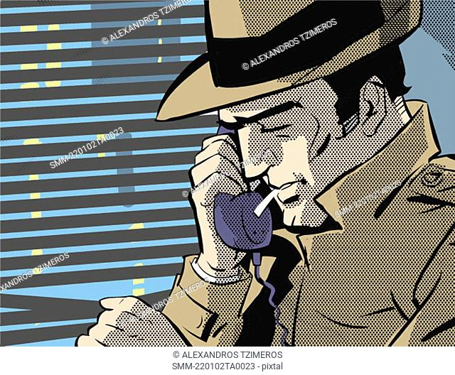 Detective on the phone