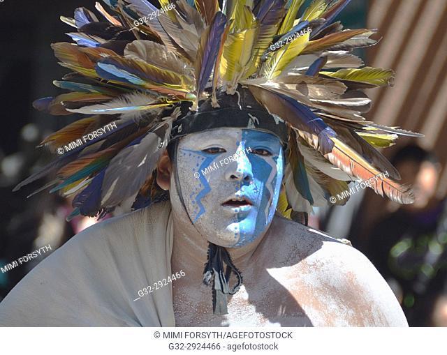 dancer of Sky City, Acoma pueblo. New Mexico