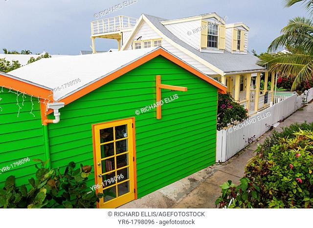 Quaint cottage in the tiny village of Hope Town, Elbow Cay Abacos, Bahamas