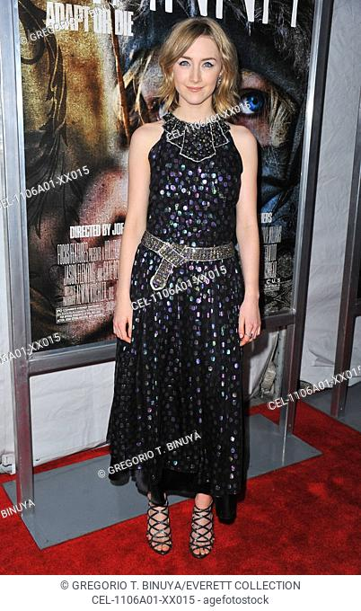 Saoirse Ronan (wearing a Chanel dress) at arrivals for HANNA Premiere, Regal Union Square Stadium 14 Theater, New York, NY April 6, 2011