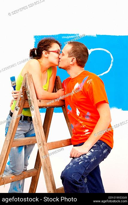 Kiss on the ladder