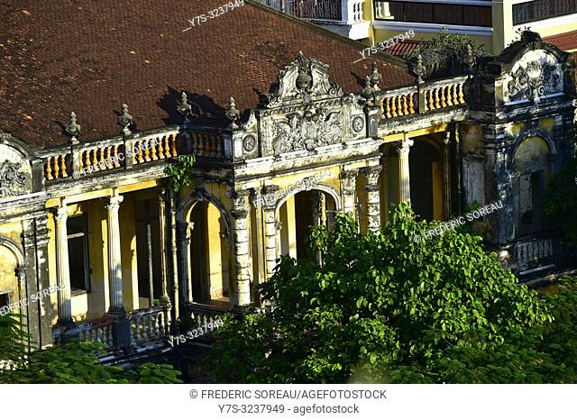 Old villa on the Sothearos Boulevard in the cambodian capitol,Phnom Penh,Cambodia,South east Asia
