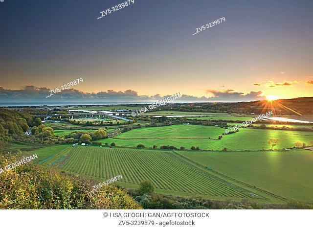 Shoreham flyover at sunset, West Sussex, Uk, Gb