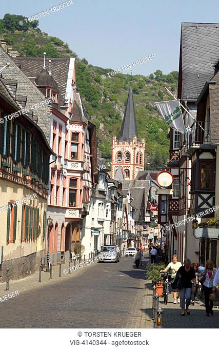 Bacharach : Altstadt mit Fachwerkhaeusern