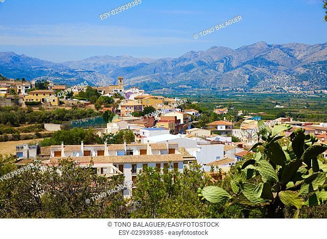 Benidoleig village in Alicante at Spain