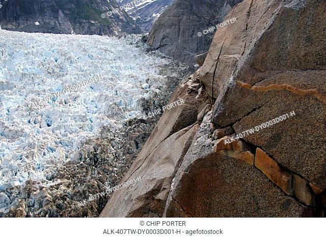 View LeConte Bay from cliffs above the LeConte Glacier, Southeast, Alaska