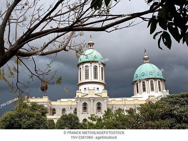 Bole Medhanialem orthodox cathedral. Addis Ababa ( Ethiopia)