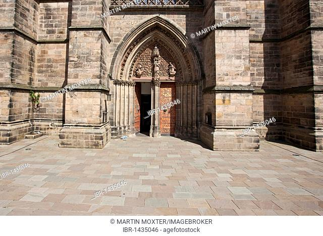 Portal of the Elisabethkirche church, Marburg, Hessen, Germany, Europe