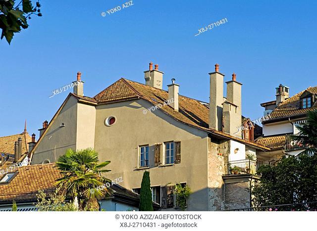 Traditional house, Vevey, Switzerland