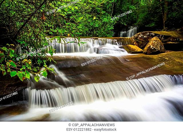 Waterfall and cascades on Carrick Creek, at Table Rock State Par