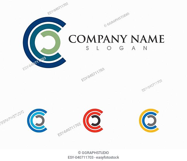 C Letter Logo Template vector icon design