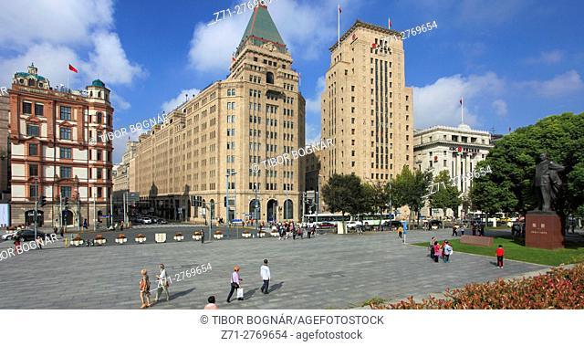 China, Shanghai, The Bund, Palace Hotel, Peace Hotel, Bank of China, Yokohama Bank, historic architecture,