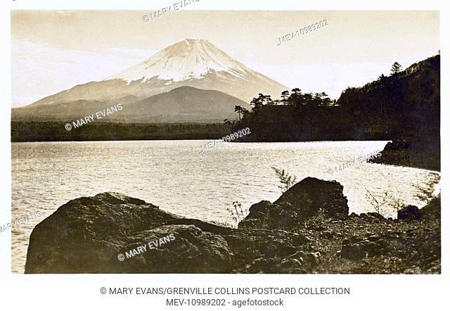 Mount Fuji, Japan - with view over lake Hakone