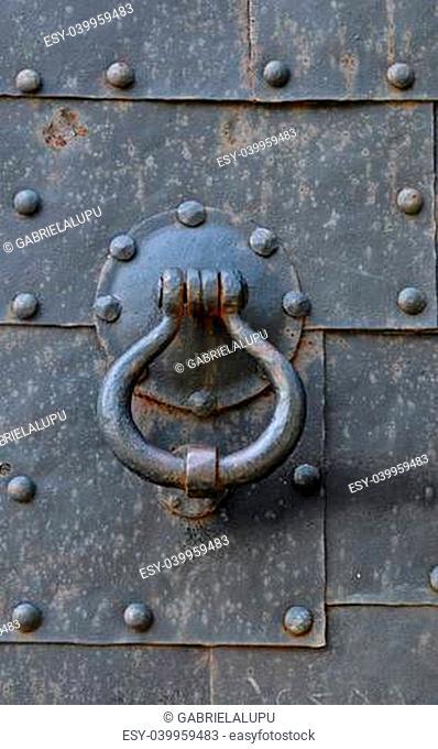 Old metal door knob in Tallinn, Estonia