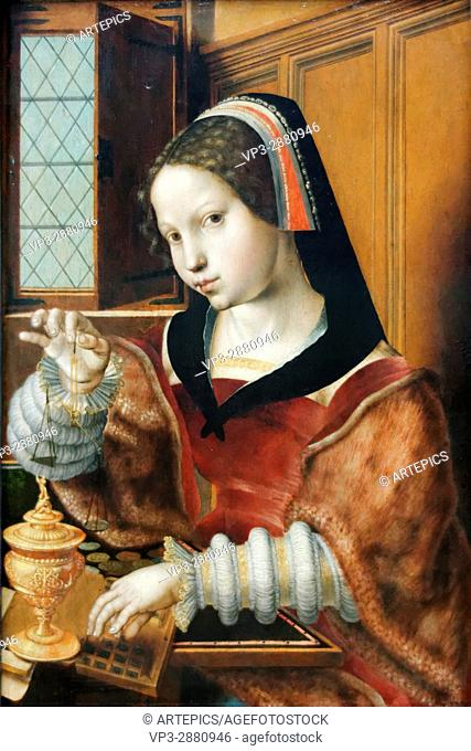 Jan Sanders van Hemessen - Die Goldwägerin - 1530 - XVI th Century - Flemish School - Gemäldegalerie - Berlin