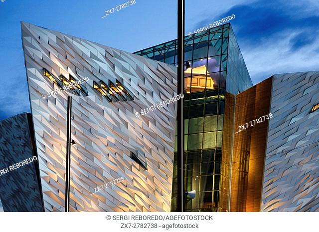 "Titanic Belfast museum and Visitors Centre, Titanic Quarter, Belfast, Northern Ireland, UK. Its creators describe Titanic Belfast Museum as a """"must see"""" visit..."