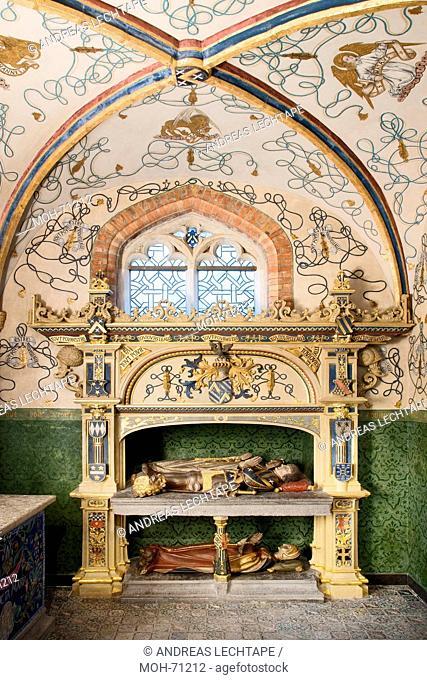Die St. Jakobuskirche Brügge. Grabmal der Familie de Gros von 1530