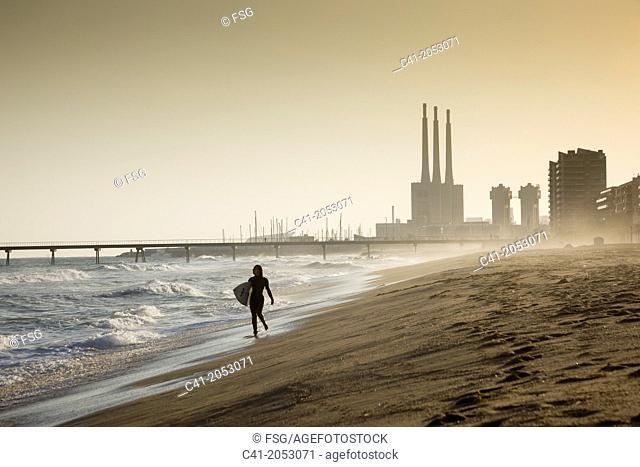 Platja dels pescadors- Badalona. Spain