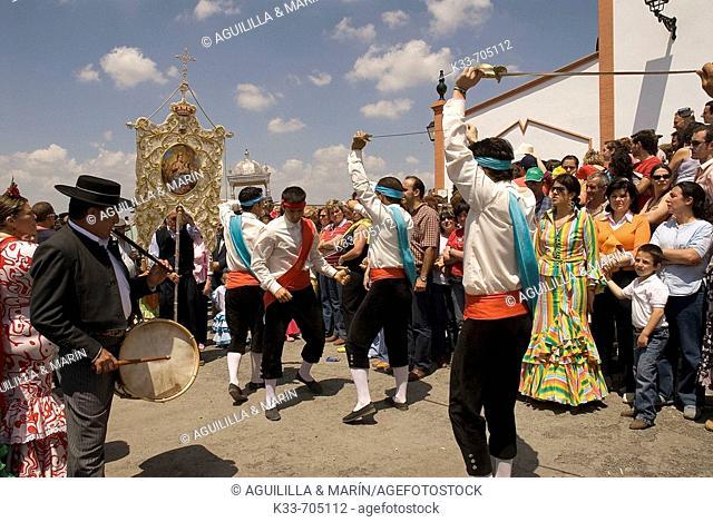 'Romeria de la Virgen de la Peña' .Puebla de Guzman. Huelva . Andalusie, Spain
