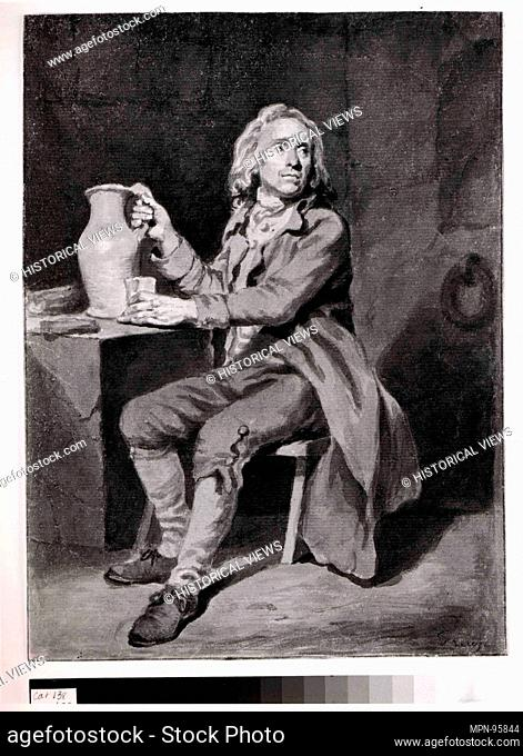 Seated Man with a Pitcher and a Glass. Artist: Jean Jacques de Boissieu (French, Lyons 1736-1810 Lyons); Former Attribution: Jean-Baptiste Greuze (French