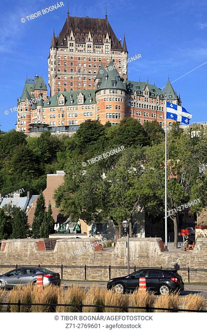 Canada, Quebec City, lower town, Chateau Frontenac, skyline,