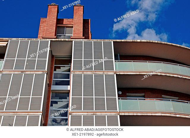 Staircase, residential building, Castelldefels, Catalonia, Spain
