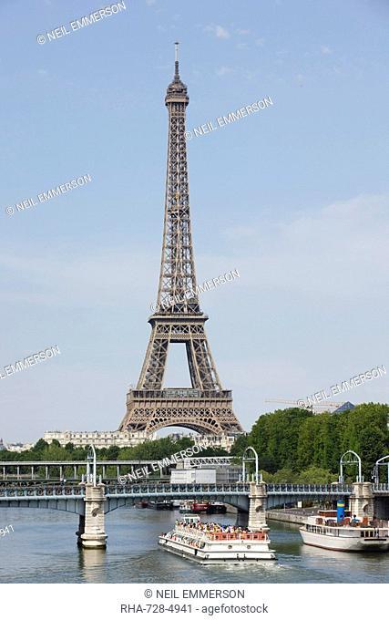 Eiffel Tower and River Seine, Paris, France, Europe