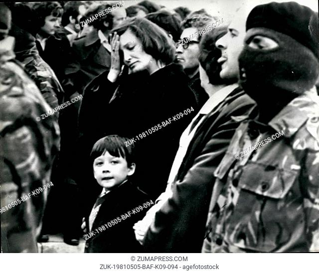 May 05, 1981 - The Funeral of Bobby Sands Pawn of the IRA - a bewildered seven-year-old Gerald Sands attending the stage-managed funeral of the father he never...