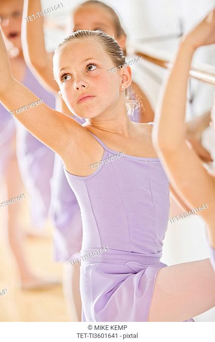 Female ballet dancer 6-8 in dance studio