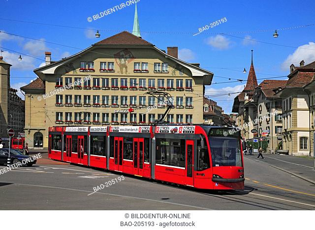 Tram at the city of Bern, Switzerland