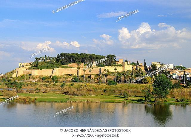 Muslim alcazaba.Badajoz.Extremadura.Spain