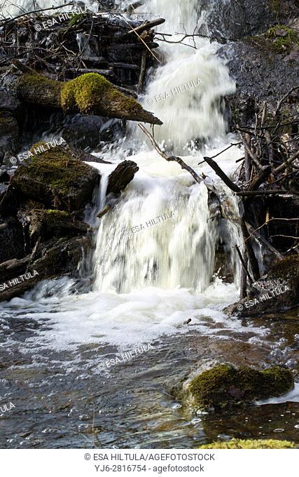 Rapids in Kemppilän Myllykoski, Ruokolahti Finland