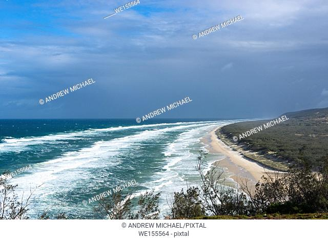 75 mile beach seen from Indian Head. Fraser Island, Queensland, Australia