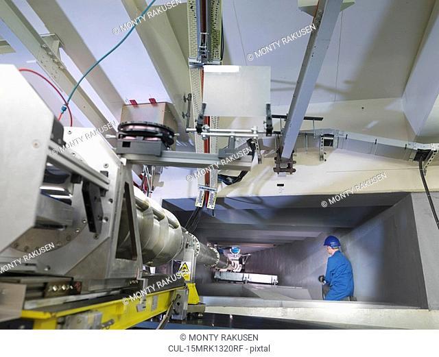 Fusion Reactor Scientist In Tunnel