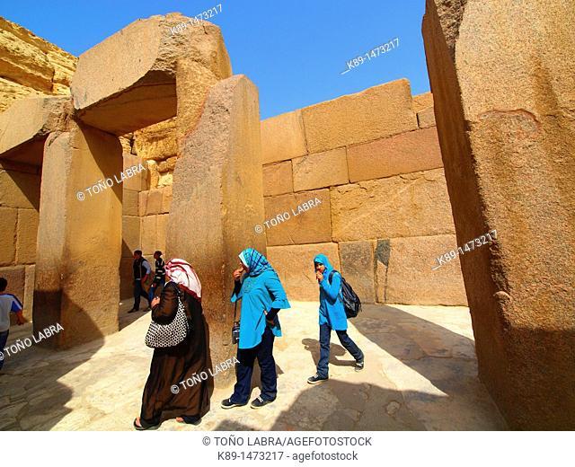 Sphinx's temple. Giza pyramids. Cairo. Egypt
