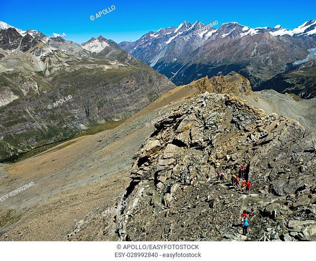 In the Pennine Alps near Zermatt, Valais, Switzerland